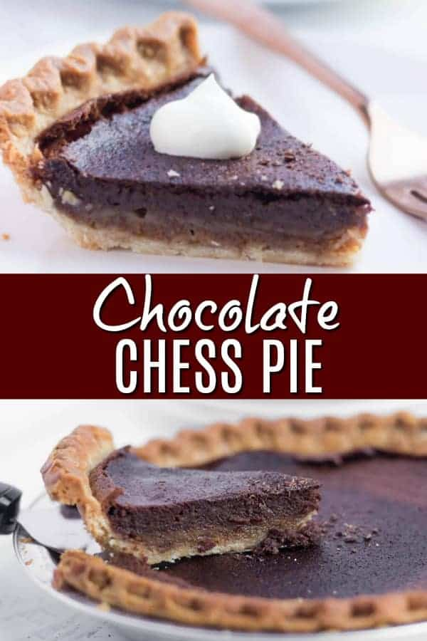 Chocolate Chess Pie - Old fashioned recipe