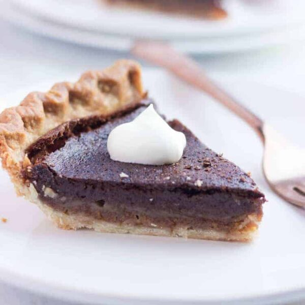 Chocolate Chess Pie Square Featured Image