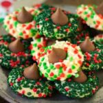 Christmas sugar cookie blossoms