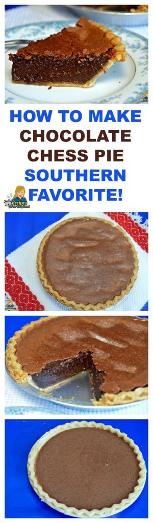 The ingredients for this easy Chocolate Chess Pie are a staple in most pantries which makes it a go-to pie for holidays or anytime.