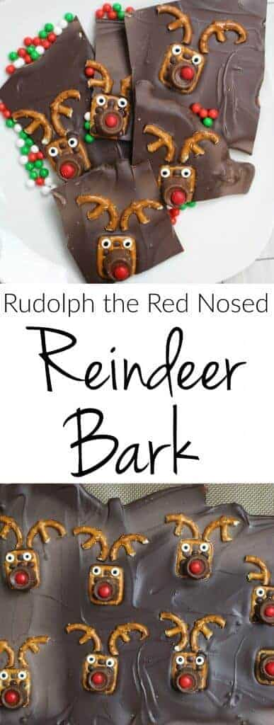 Rudolph the Red Nosed Reindeer Bark - Super easy holiday treats