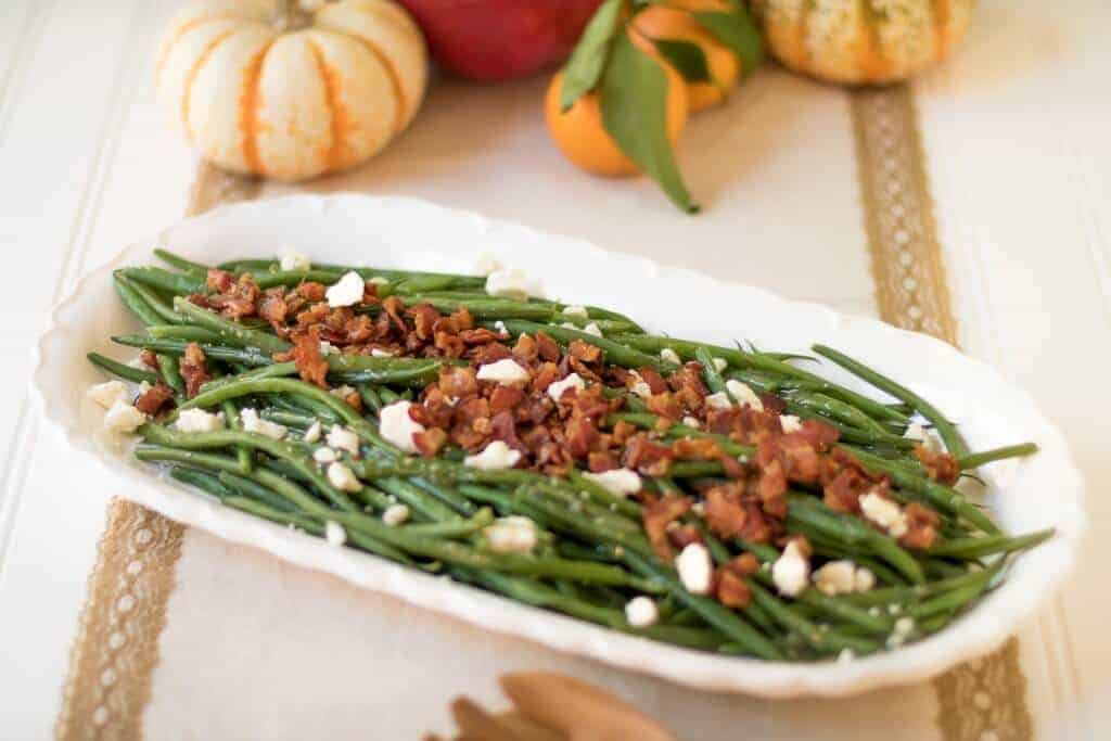 Bacon and Feta Green Beans Side Dish