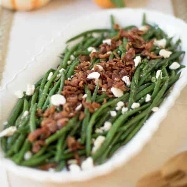 Feta and Bacon Green Beans
