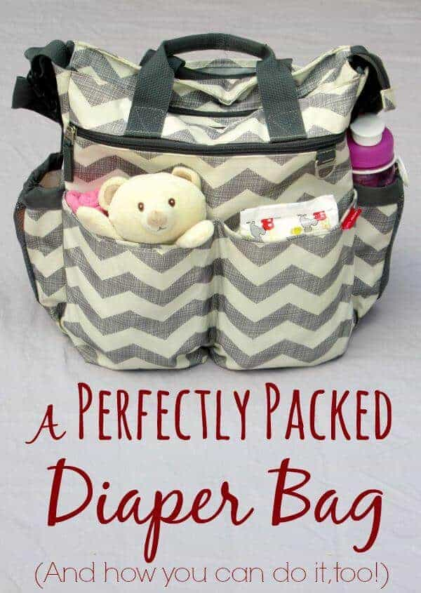 A Perfectly Packed Diaper Bag from Laura's Plans | Parent Organization Hacks