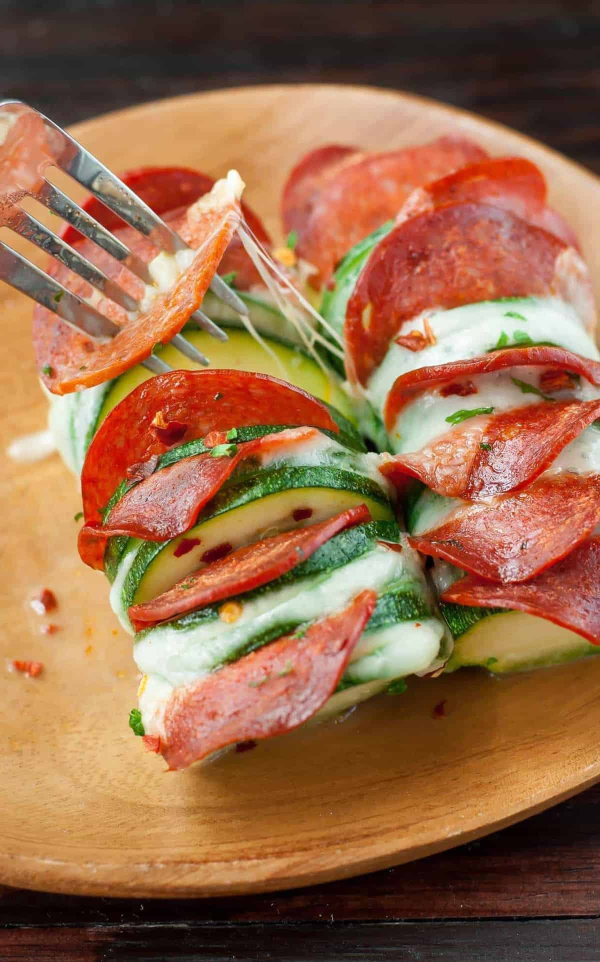 Cheesy Hasselback Zucchini by Peas and Crayons | Favorite Low Carb Recipes