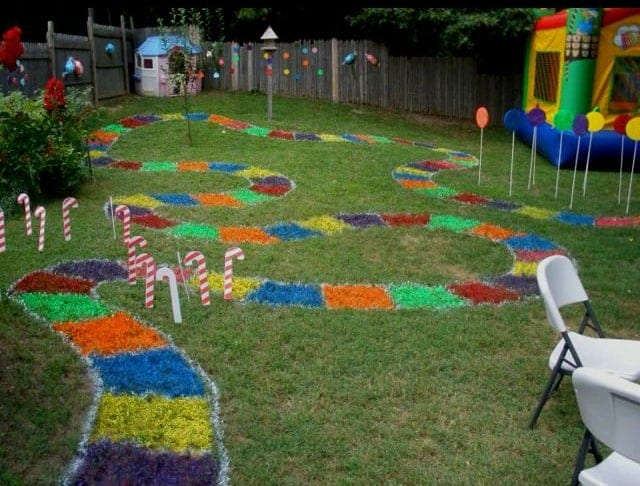DIY Candy Land Backyard Game Board by Evelyn Kirchner
