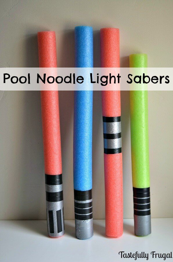 DIY Pool Noodle Light Sabers | Star Wars Crafts, Recipes and Gift Ideas
