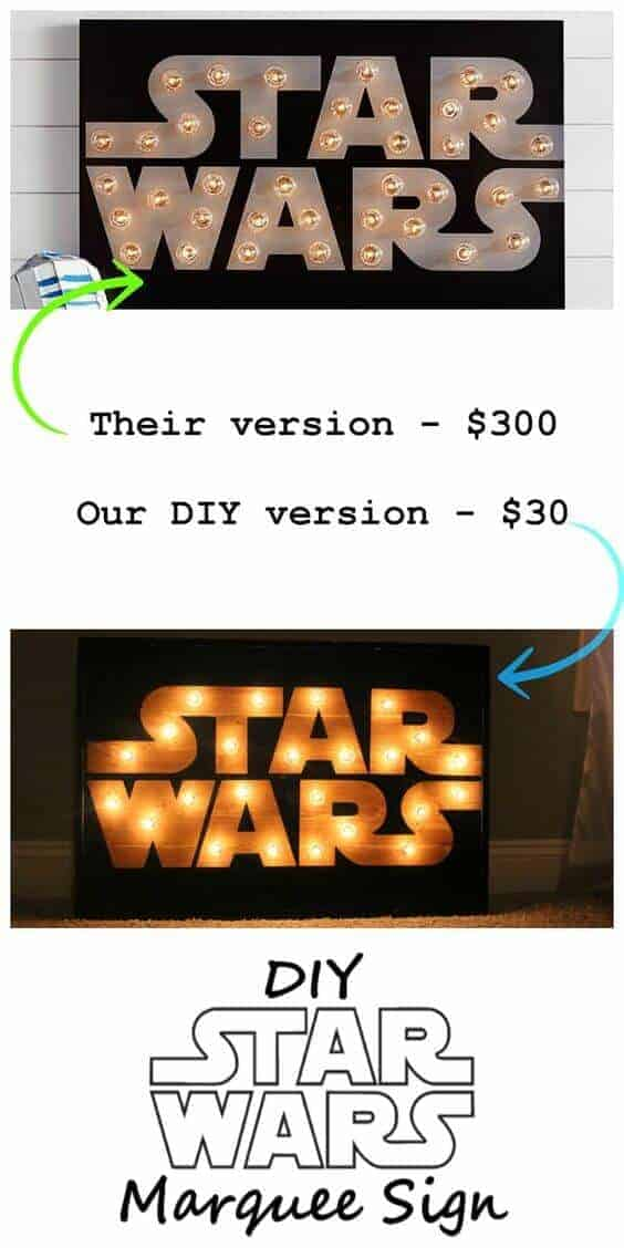 DIY Star Wars Marquee Sign | Star Wars Crafts, Recipes and Gift Ideas