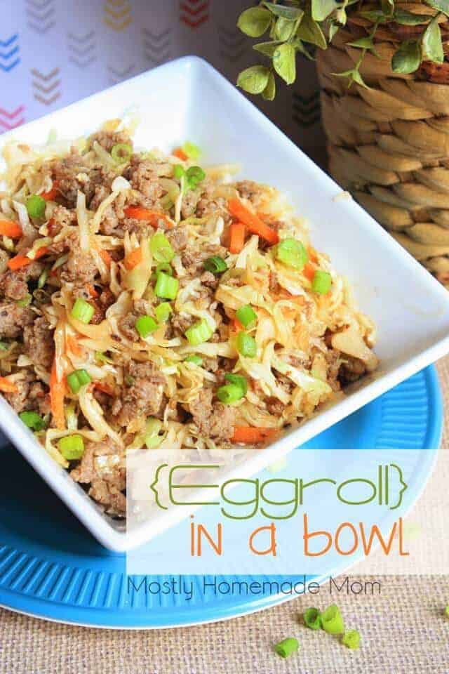Eggroll in a Bowl by Mostly Homemade Mom