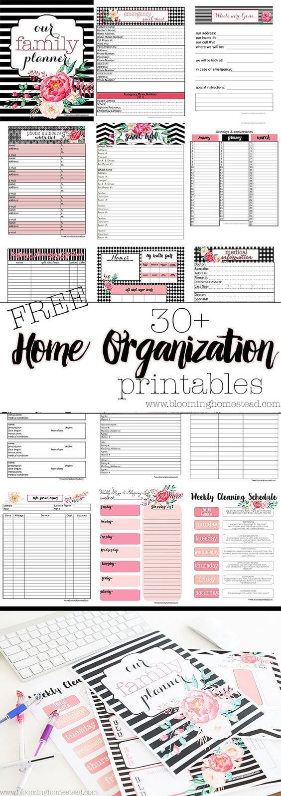 Floral Family Planning Organizer by Blooming Homestead | Parent Organization Hacks featured on Princess Pinky Girl