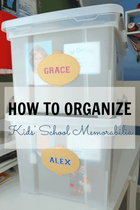 How to Organize Kids Paperwork and Memorobilia by I Heart Planners