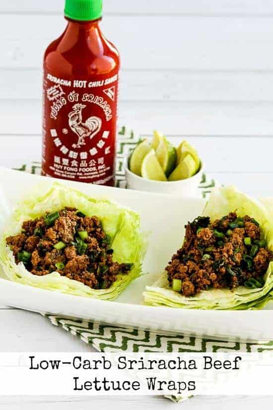 Low Carb Sriracha Beef Lettuce Wraps by Kaylins Kitchen