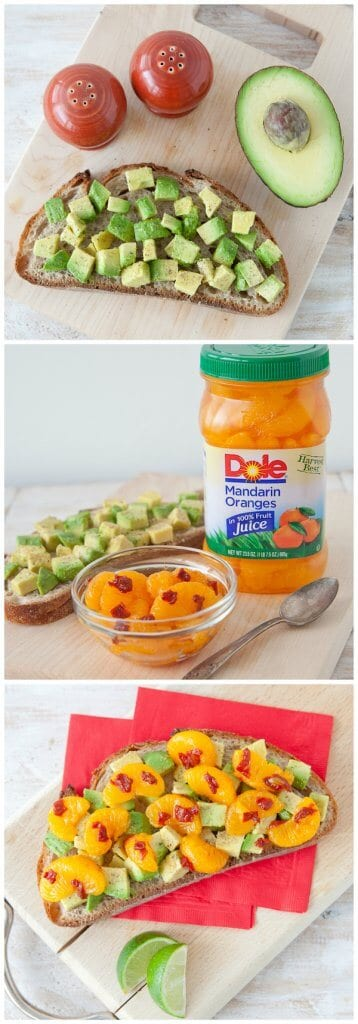 Orange Chipotle Avocado Toast