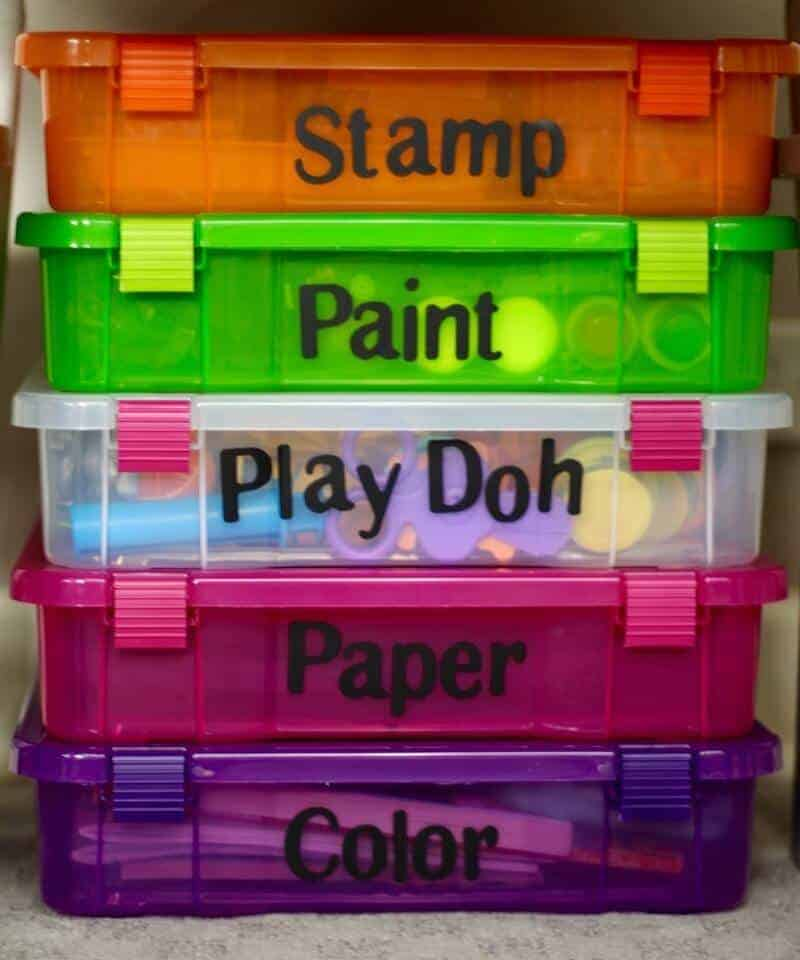 Organizing Art Supplies by The Organized Mama | Parent Organization Ideas featured on Princess Pinky Girl