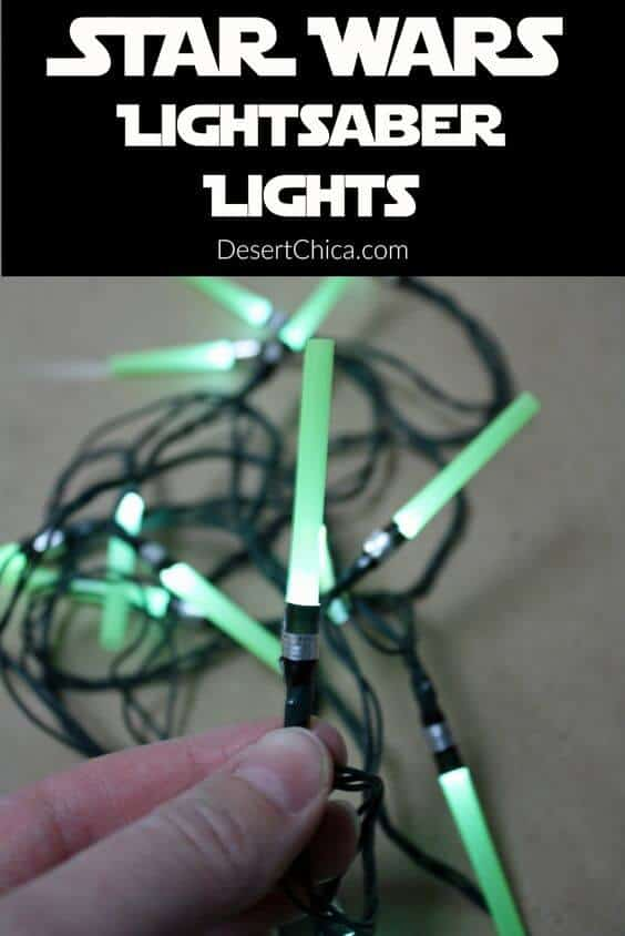 Star Wars Lightsaber Light Strands | Star Wars Crafts, Recipes and Gift Ideas