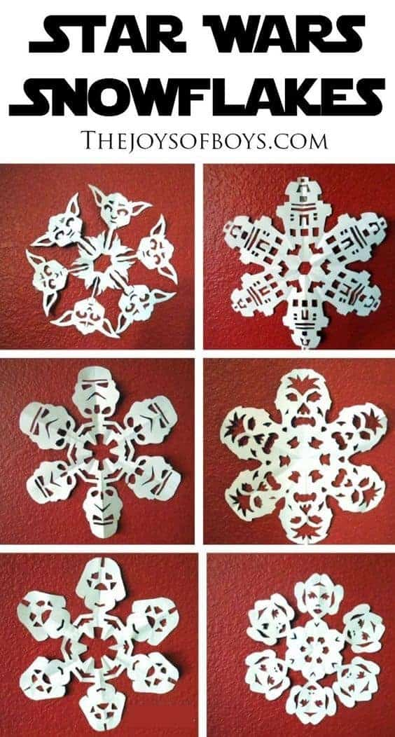 Star Wars Paper Snowflakes by Joy of Boys   Star Wars Crafts, Recipes and Gift Ideas