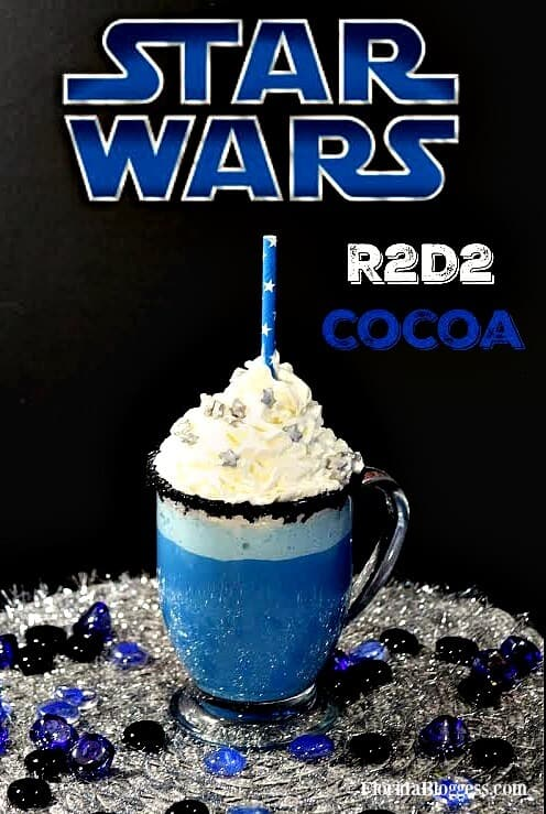 Star Wars R2D2 White Chocolate Hot Cocoa by Florida Bloggess | Star Wars Crafts, Recipes and Gift Ideas
