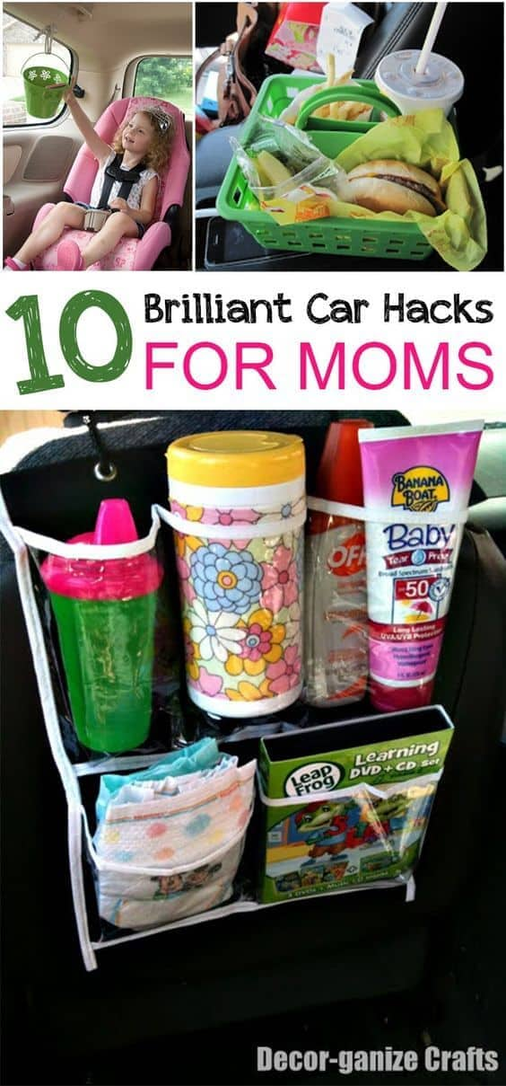 10 Brilliant Car Hacks for Mom by Picky Stitch | Best Parent Organization Hacks featured on Princess Pinky Girl