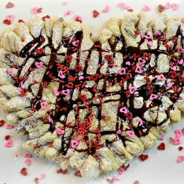 Valentine's Day Nutella and Heart Puff Pastry