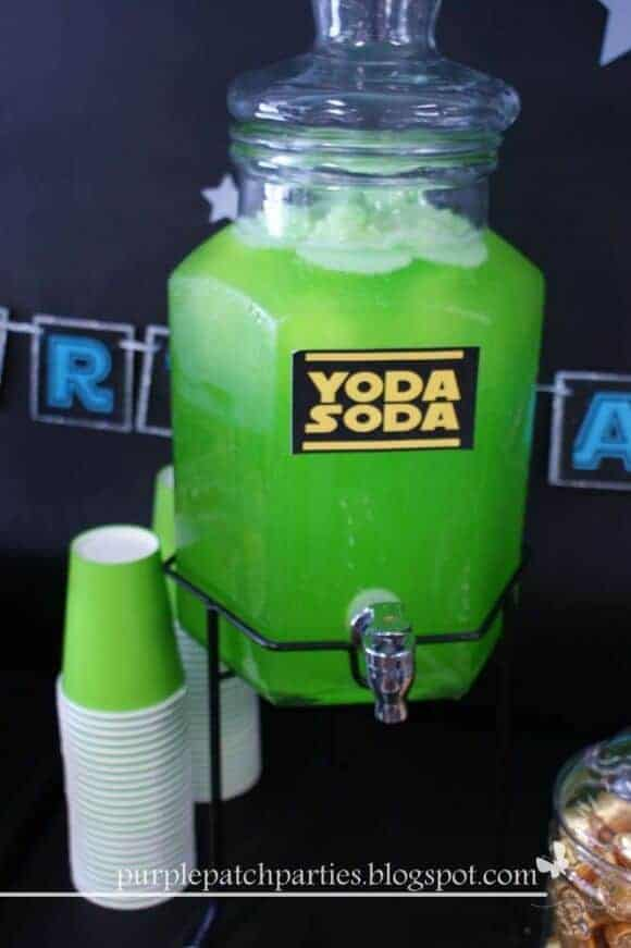 Yoda Soda featured on Catch My Party | Star Wars Crafts, Recipes and Gift Ideas