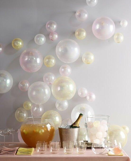 DIY Champagne Bar from Honey and Fitz - Creating your own birthday parties at home has never been easier. These DIY Birthday Party Ideas are awesome!