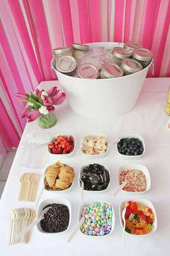 DIY Ice Cream Sundae Bar From Pop Sugar   These DIY Birthday Party Ideas  Are Awesome