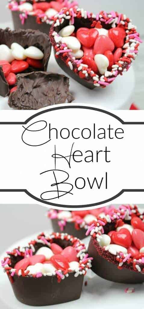 Chocolate Heart Bowl - the perfect Valentine's Day Treat