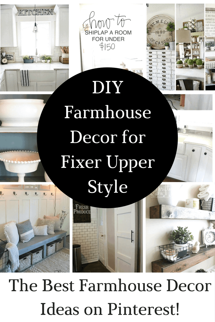 Farmhouse Decor is so popular right now. These DIY Farmhouse Decor ideas will spruce up your home without braking the bank!