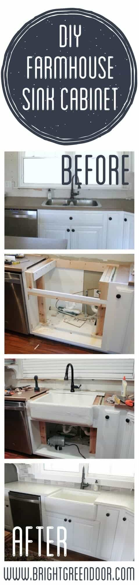 Farmhouse Sink by Bright Green Door   DIY Farmhouse Decor Projects for Fixer Upper Style