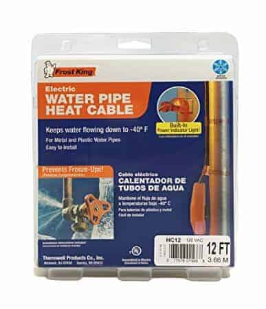 Keeps Pipes from Freezing in the Cold Weather with the Frost King Water Pipe Heat Cable | Winning Winter Hacks