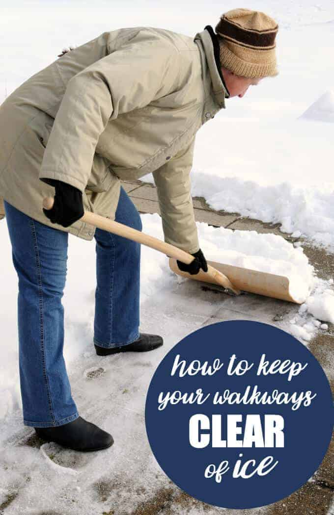 Keeping Walkways Clear of Ice by Simply Stacie | Winning Winter Weather Hacks