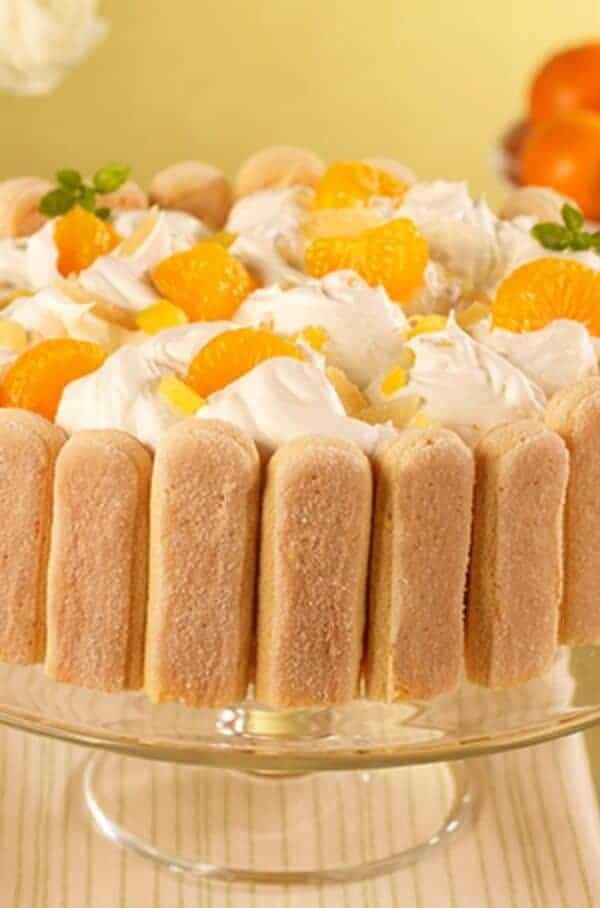 Pineapple Mandarin Icebox Cake