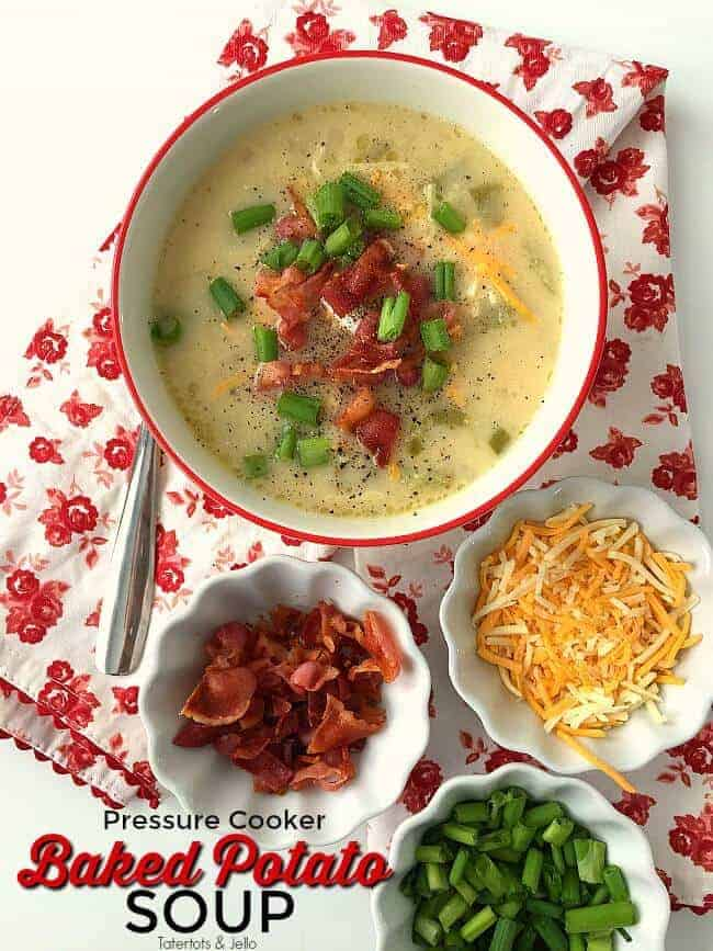 Pressure Cooker Loaded Baked Potato Soup by Tatertots and Jello | 12 Favorite Instapot Recipes