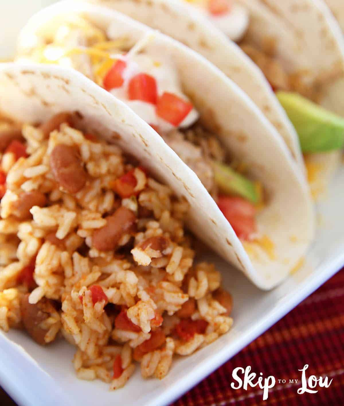 Pressure Cooker Mexican Rice and Beans by Skip to My Lou | 12 Favorite Instapot Recipes
