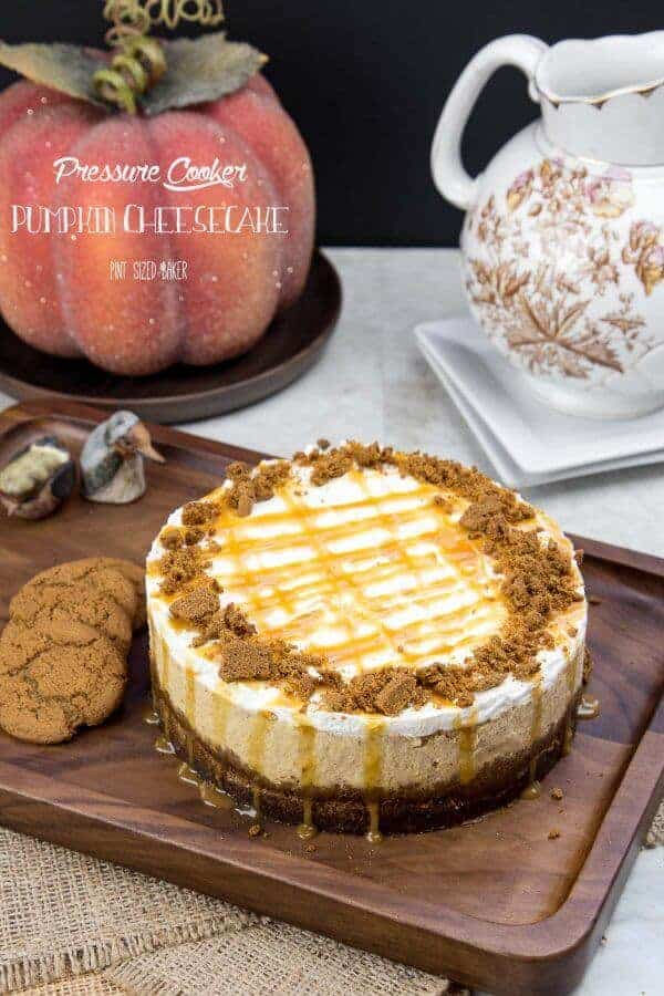 Pressure Cooker Pumpkin Cheesecake by Pint Sized Baker | 12 Favorite Instapot Recipes