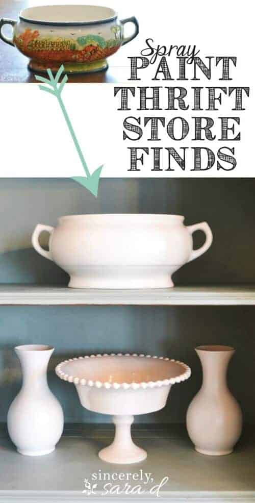 Spray Paint Thrift Store Decor by Sincerely Sara D   DIY Farmhouse Decor Projects for Fixer Upper Style