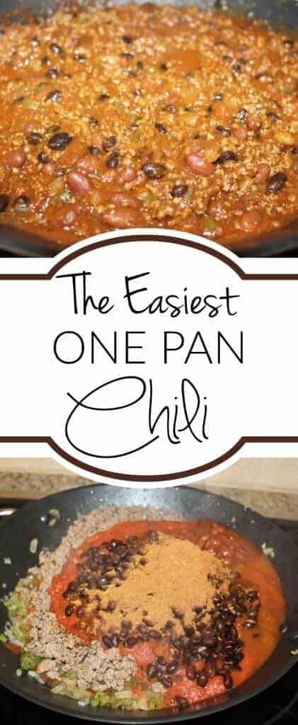 The easiest one pot chili recipe