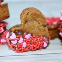 Valentines Chocolate Chip Heart Cookies