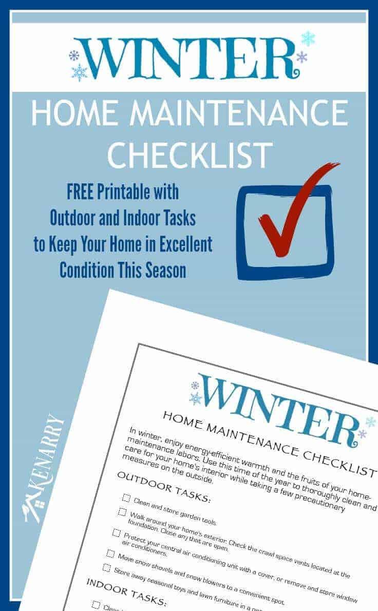 Winter Home Maintenance Checklist by Kennary Home | Winning Winter Weather Hacks