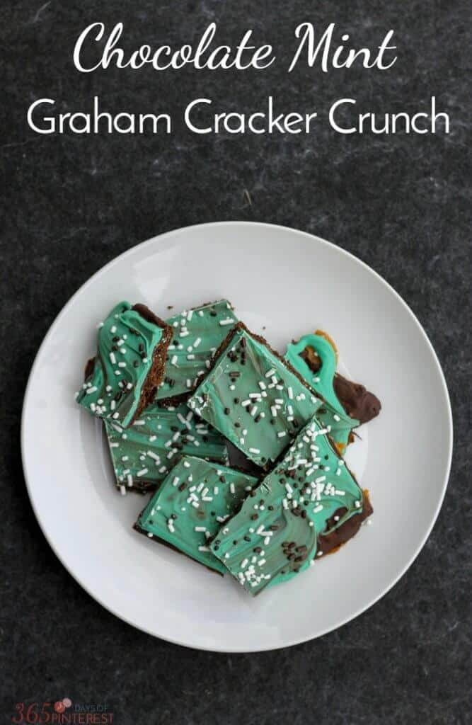 Chocolate Mint Graham Cracker Crunch is the perfect to celebrate dessert for St. Patrick's Day or whenever you just crave a hint of mint