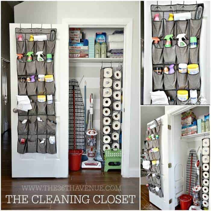 Cleaning Closet Tips from 36th Ave | Closet Hacks and Organization Ideas