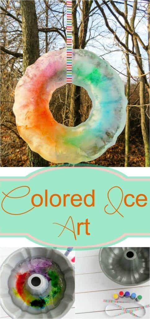 Colored Ice Art - such a fun winter activity