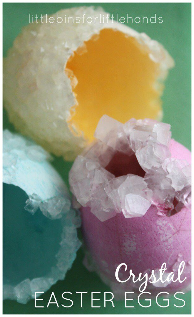 Crystal Easter Eggs by Little Bins for Little Hands