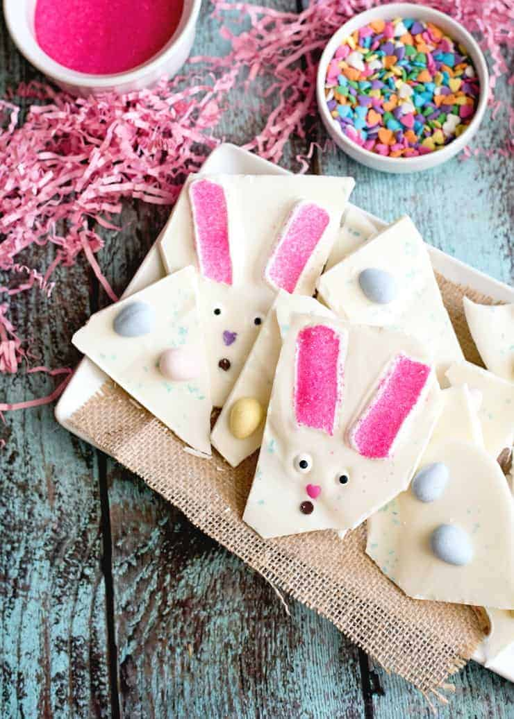 Easter Bunny Bark - break into pieces