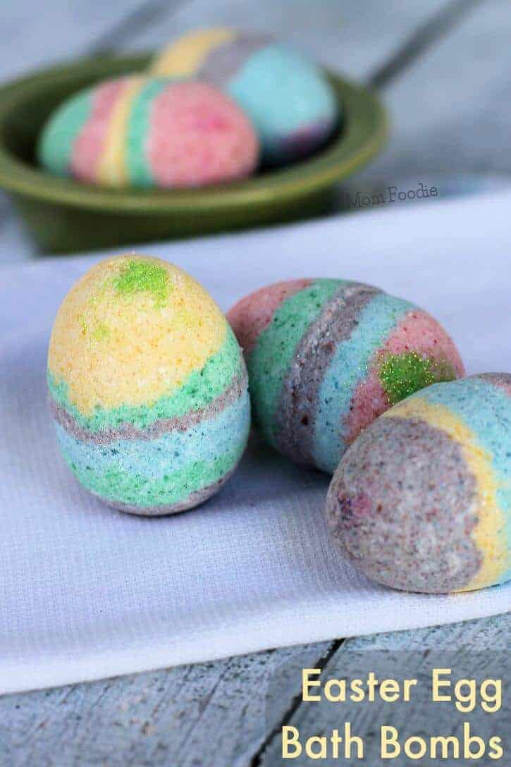 Easter Egg Bath Bombs by Mom Foodie | The Coolest Easter Egg Ideas!