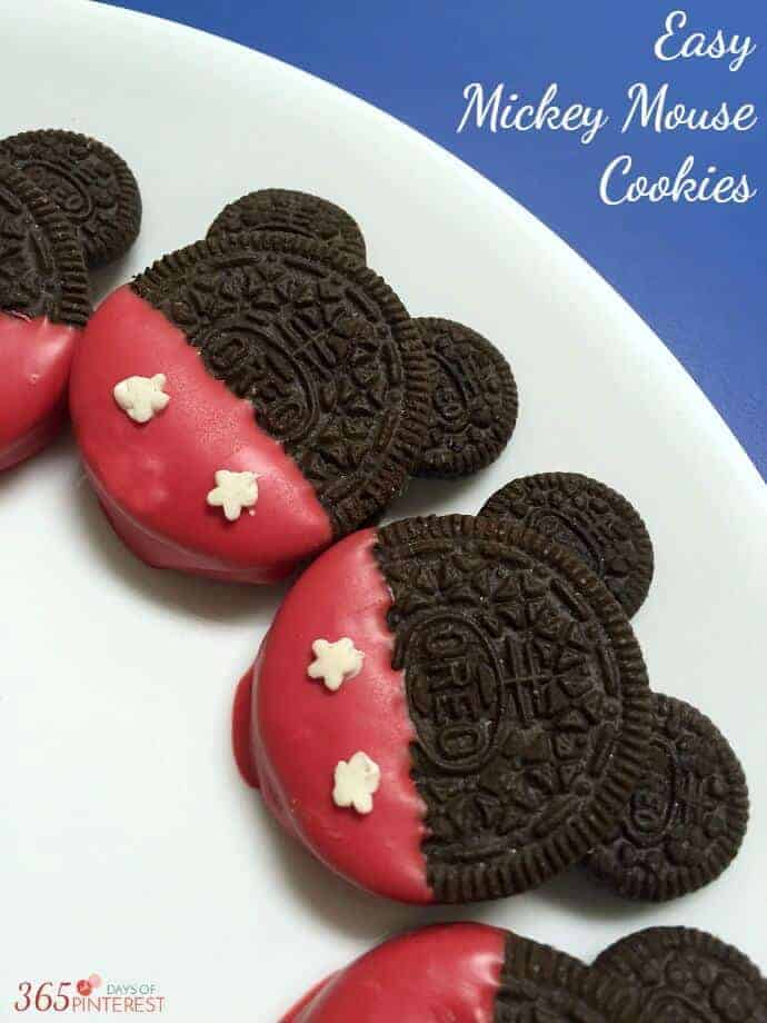 Easy Mickey Mouse Cookies by 365 Days of Pinterest | Mickey Mouse Ideas you are going to love!