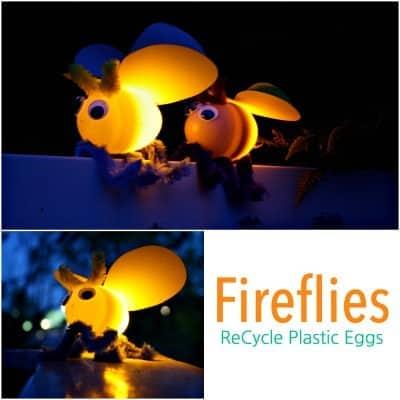 Fireflies Plastic Eggs by Emma Owl