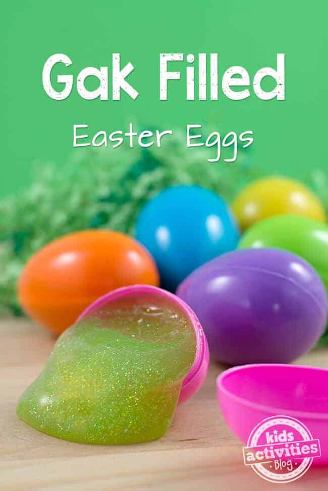 Gak Filled Easter Eggs by Kids Activities Blog | The Coolest Easter Egg Ideas!
