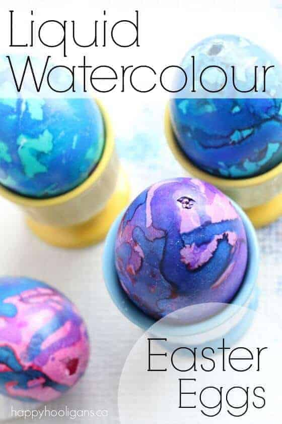 How to Dye Easter Eggs with Watercolor | The Coolest Easter Egg Ideas!