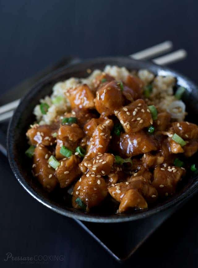 Instant Pot Honey Sesame Chicken from Pressure Cooking Today